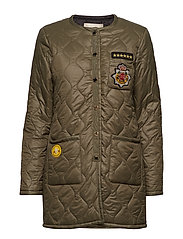 Suri Quilted Coat - ARMY