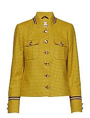 Selby Check Jacket - LEMON