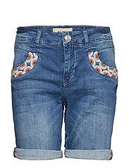 Naomi Mandarin Shorts - BLUE DENIM