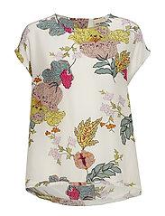 Michelle Ava Blouse - OFFWHITE FLOWER
