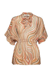 Nexa Swirl Blouse - SUN ORANGE PRINTED