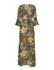 Tulum Ava Dress - GRAPE LEAF FLOWER