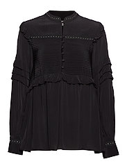 Nita Stud Blouse - BLACK