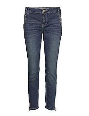 Etta 7/8 Trok Jeans - DARK BLUE DENIM