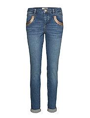 Naomi Cube Jeans - BLUE DENIM
