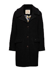 Manny Wool Coat - BLACK