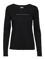 Passion Stud Tee LS - BLACK