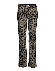 Ivana Miramare Long Pant - BLACK W. GOLD LUREX