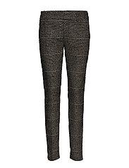 Abbey Regular York Pant - BLACK CHECK