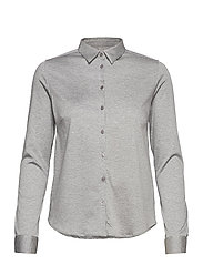 Tina Jersey Shirt - LIGHT GREY MELANGE