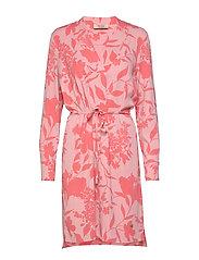 Lipa Stencil Dress - SUGAR CORAL