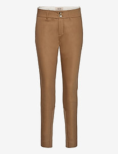 Blake Night Pant Sustainable - slim fit-byxor - toasted cocount