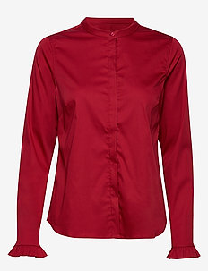 Mattie Shirt - long-sleeved shirts - courage red
