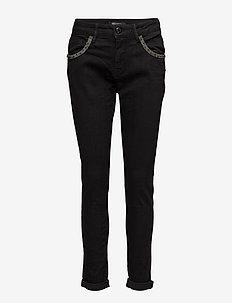Bradford Glam Black - straight jeans - black denim