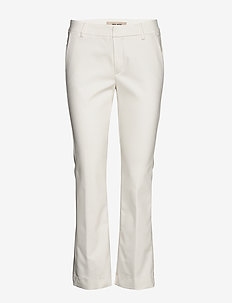 Ivana Night Kick Sustainable - straight leg trousers - offwhite