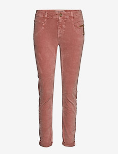 Nelly Corduroy Pant - straight leg trousers - rose