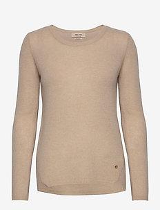 Sophia O-neck Cashmere - cashmere - beige melange