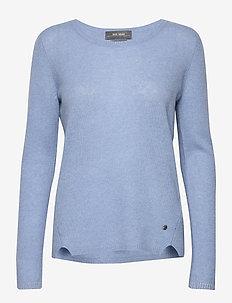 Sophia O-neck Cashmere - cashmere - sky blue