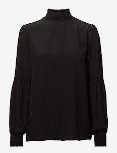 Vega Silk Blouse - BLACK