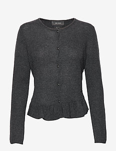 Alice Cashmere Cardigan - DARK GREY MELANGE