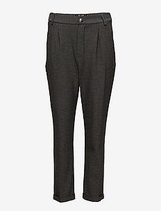 Mary Hayes Pant - wide leg trousers - grey melange