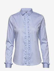 Tilda Flounce Shirt - long-sleeved shirts - light blue