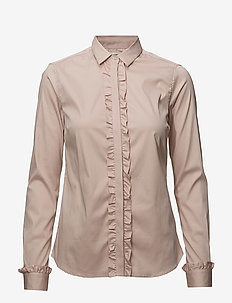 Tilda Flounce Shirt - long-sleeved shirts - light rose