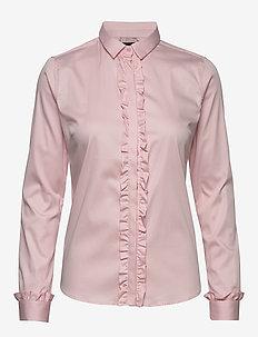 Tilda Flounce Shirt - long-sleeved shirts - soft rose