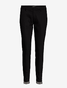 Abbey Glam Zip Pant - slim fit trousers - black