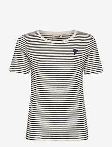 Kenia Glam Stripe O-neck - t-shirts - dark blue