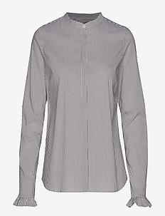 Mattie Stripe Shirt - COFFEE BEAN STRIPE
