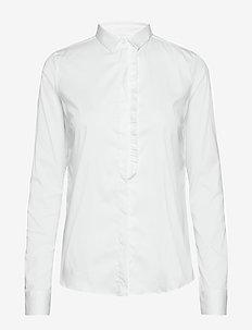 Tilda Frill Shirt - WHITE