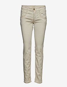 Naomi Embroidery Soft Pant - SOFT BEIGE