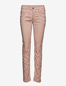Naomi Embroidery Soft Pant - SOFT ROSE