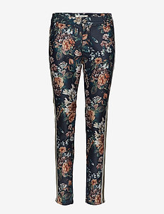 Blake Gold Flower Pant - BLACK