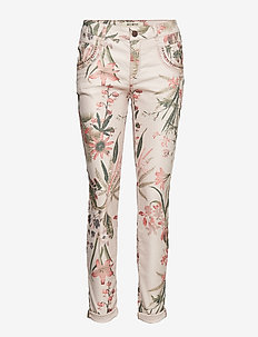 Naomi Shine Flower Pant - ROSE FLOWER