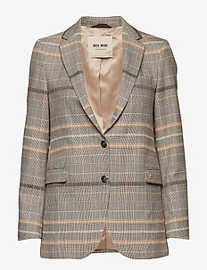 Mary Fey Blazer - BROWN CHECK