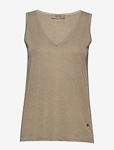 Casio Top SL - sleeveless tops - gold