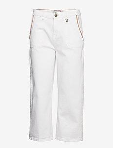 Cora Culotte Jeans - WHITE DENIM