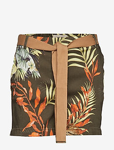 Penton Printed Shorts - ARMY FLOWER