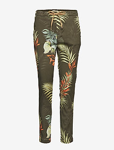 Patton Printed Pant - ARMY FLOWER