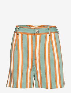 Bea Stripe Shorts - GREEN BAY STRIPE