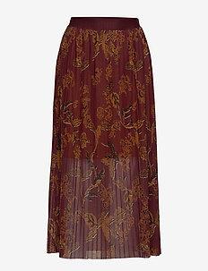 Plissé Mesh Skirt - lange skjørt - africa print