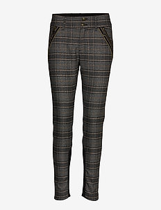 Milton Milano Pant - slim fit-byxor - black check