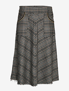 Alice Milano Skirt - midinederdele - black check