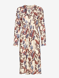 Ivy Beaux Dress - midi dresses - wild plum flower