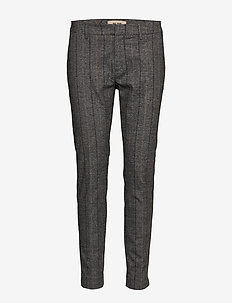 Abbey Capri Pant - slim fit-byxor - grey melange