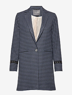 Christie Kane Coat - MOOD INDIGO CHECK