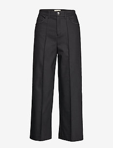 Como Night Pant Sustainable - bukser med brede ben - black