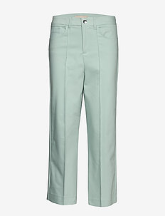 Como Night Pant Sustainable - spodnie szerokie - mint haze